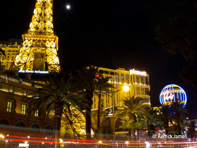 Shooting the Las Vegas Strip by Night