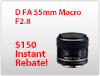 D FA 50mm F2.8 Macro Instant Rebate