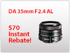 DA 35mm F2.4 Instant Rebate
